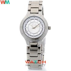 Elle ES20078B01X Putih silver- Jam Tangan Wanita - Strap Stainless Steel