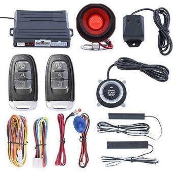 Engine Push Start Button Keyless Entry Start Stop Immobilizer Car Alarm System - intl