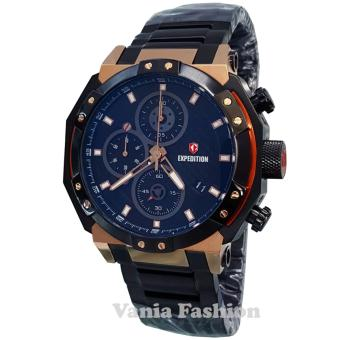 Expedition E6385M-C Jam Tangan Pria Stainless Steel Hitam Rose Gold