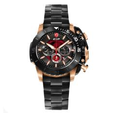 Expedition EXP - Jam Tangan Pria - Rosegold-Hitam Red - Stainless Steel - 3002