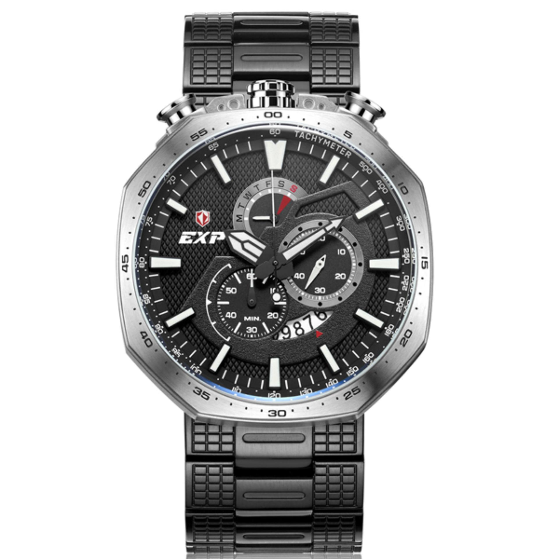 Expedition Jam Tangan Pria E6385m Chronograph Black E6657 Exp6745mc Silver Stainless Steel