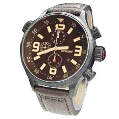 Expedition - Jam Tangan Pria - Leather Strap - 3 6318 - Coklat