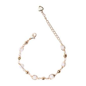 Eyo Jewelry Gelang Wanita Rantai Putih - Gold