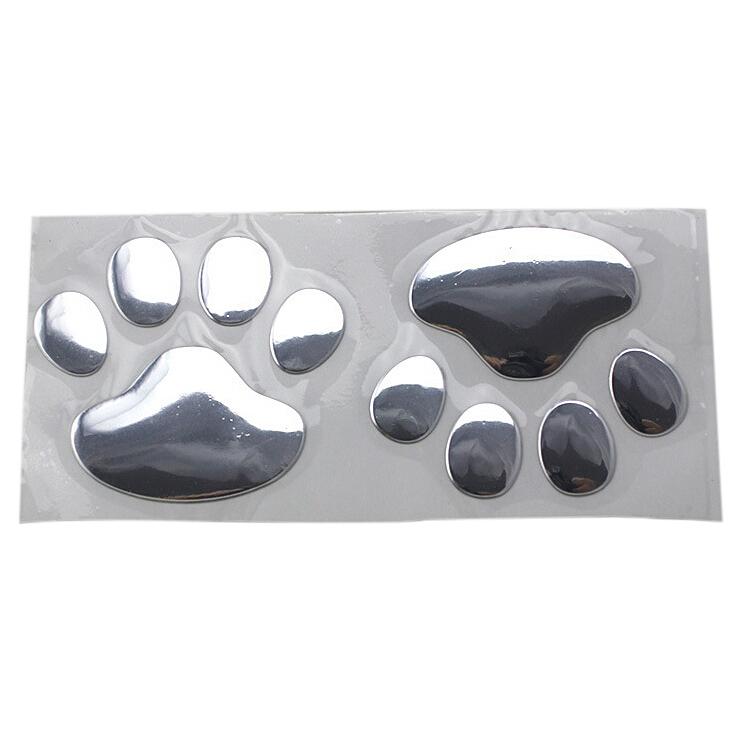 ... Fancytoy 5 x 3 D anjing hewan beruang cakar tapak jendela mobilbemper Body stiker (Silver ...