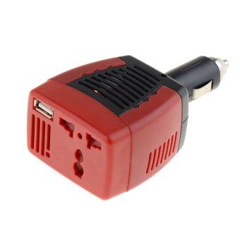 Fancytoy DC Ke AC 75 Watt Inverter Daya Charger Mobil UtamaKonverter Untuk Ponsel Laptop