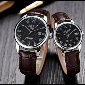 Fashion Business style Watch for Women?Dark Coffee/Black? - intl