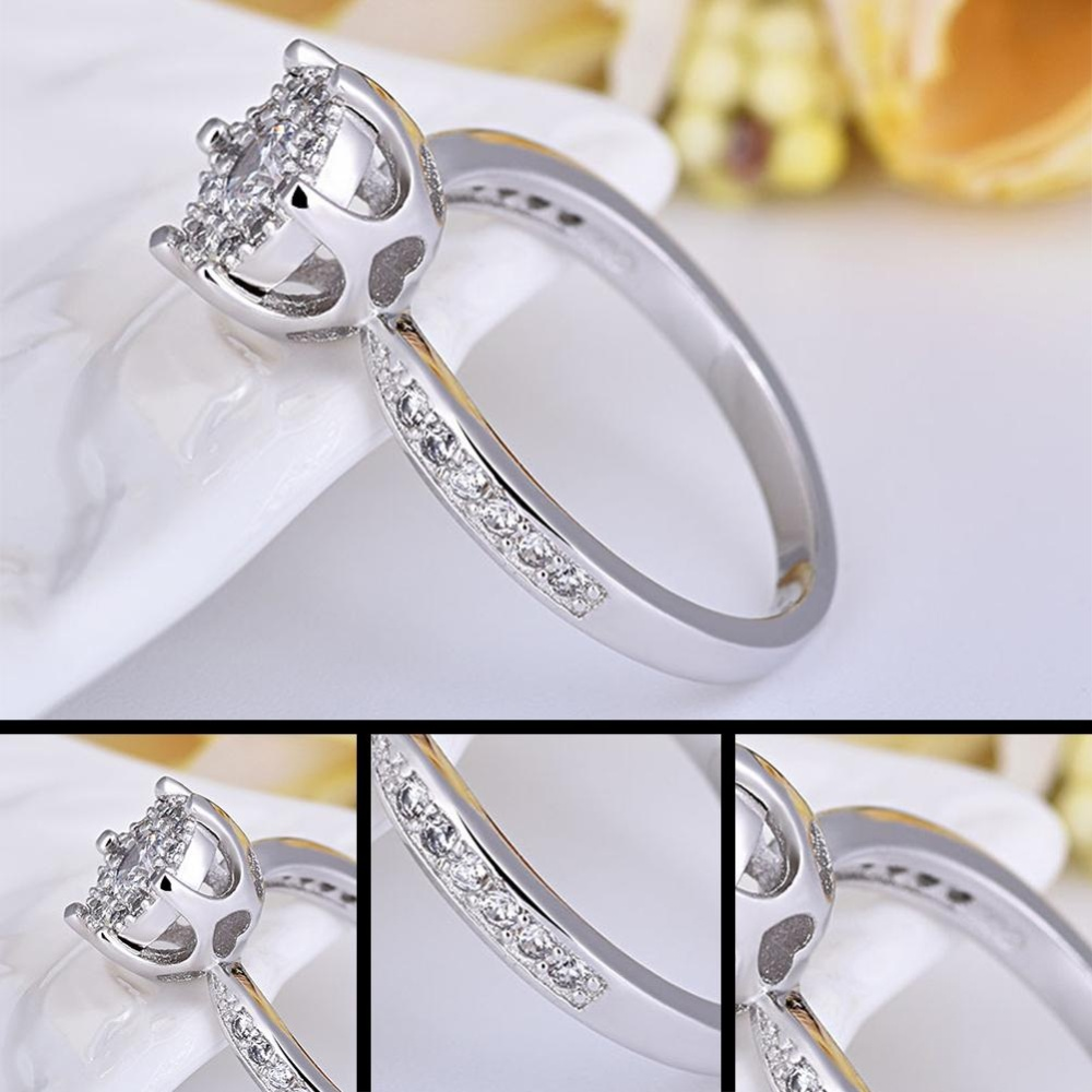 engagement romantic transparent texture crystal rings ring wedding
