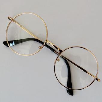 BELI SEKARANG Fashion Retro Asli lingkaran bulat Kacamata jelas lens 2 Gaya  Pria Klik di sini !!! 7c64f98818