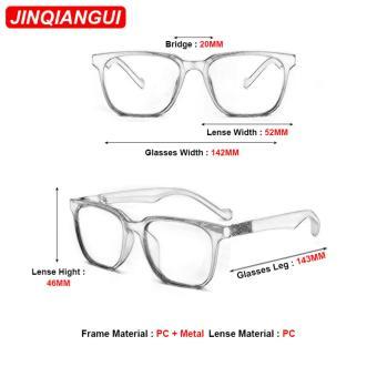 JINQIANGUI Kacamata Bingkai Wanita Bulat Kacamata Banyak Warna Hapus Lensa Fashion .