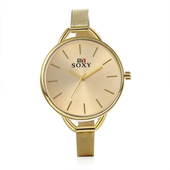 ... Wanita Terbuat Dari Kristal Gelang Jam Tangan Rhombus Kuarsa Emas; Page. Source · Fashion Wrist Watch Quartz Watch Alloy Band - Gold - intl