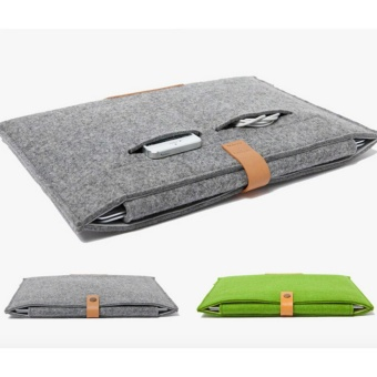 Fashionable Sleeve Case Bag for Apple Macbook Air 13.3 Inch Laptop Carrying Bags (Green) - intl