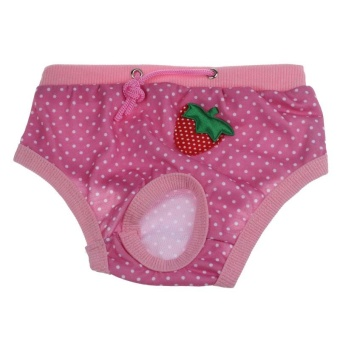 Female Pet Dog Physiological Menstrual Hygiene Pants Estrus Pink/L- intl