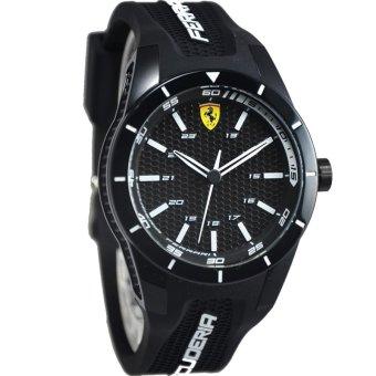 Ferrari Jam Tangan Pria - Strap Rubber - Hitam - FER829
