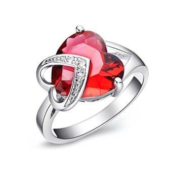 harga FLORAY wanita elegan merah diciptakan hati berbentuk batu permataRuby cincin bertema dengan jelas transparan kubik Zirconia berlapisemas. Gratis biru kotak perhiasan hadiah yang indah untuk wanitaatau anak-anak. Lazada.co.id