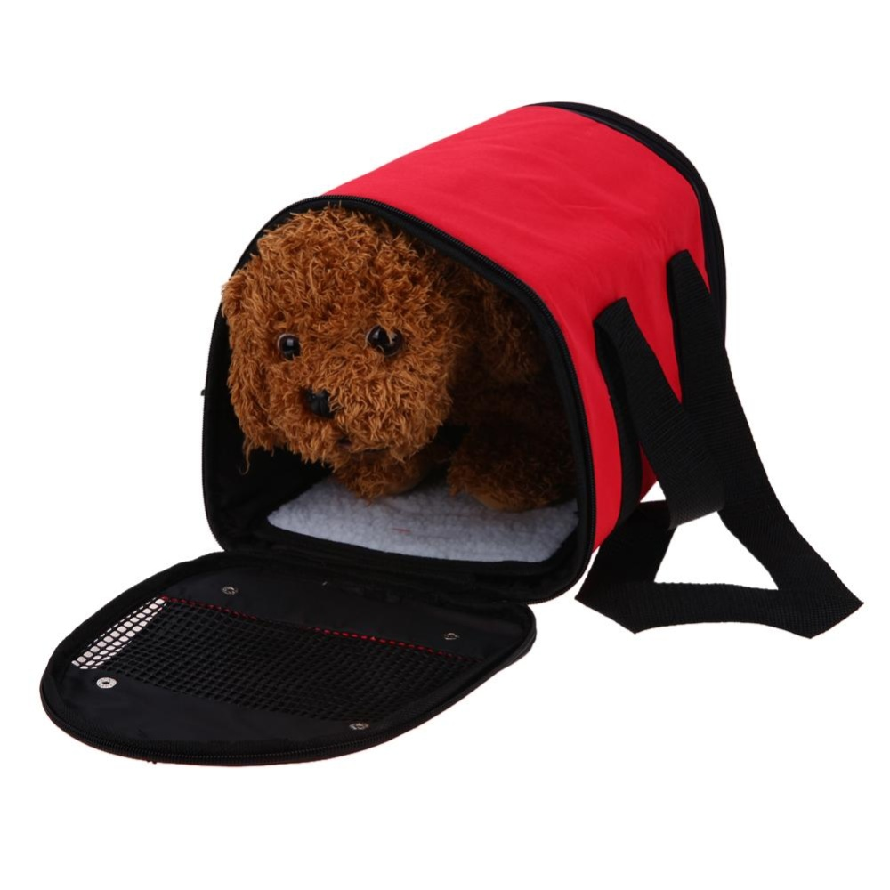 Foldable Waterproof Oxford Outdoor Dog Carrier Backpack Front ChestBag(Red)-S - intl