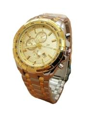 Fortuner Jam Tangan Fashion Wanita - Stainlesstell Strap - Silver Plat Gold -  FR3357JS