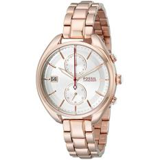 FOSSIL CH2977 D37H1879RGPT CHRONOGRAPH DATE STAINLESS STEEL CHAIN LADIES ROSEGOLD WHITE