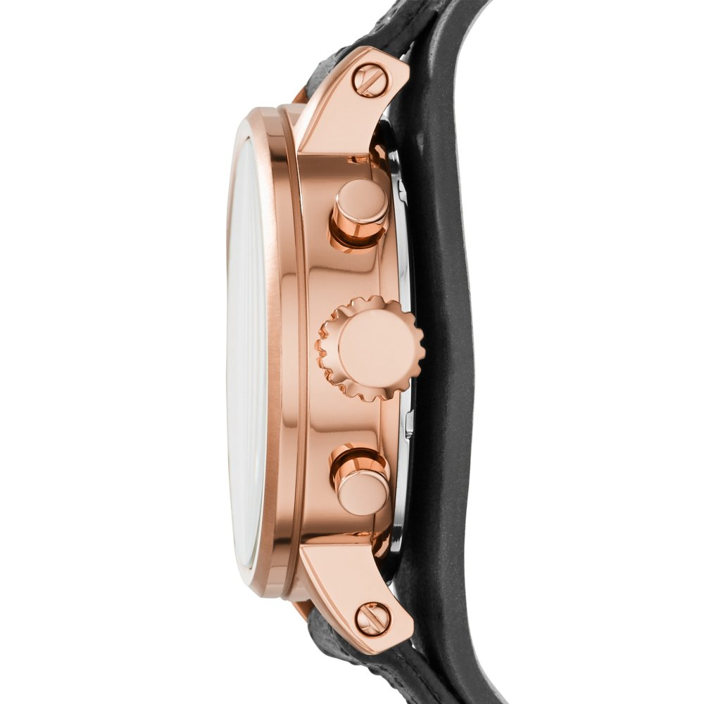 Periksa Peringkat Fossil Es3818 Jam Tangan Wanita Original Es3707 Jacqueline Gray Leather Watch Rose Gold Boyfriend Chronograph