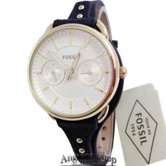 Fossil ES4051 - Jam Tangan Fashion Wanita Elegant - Fiture Chronograph Classic - Leather - ( Blue )