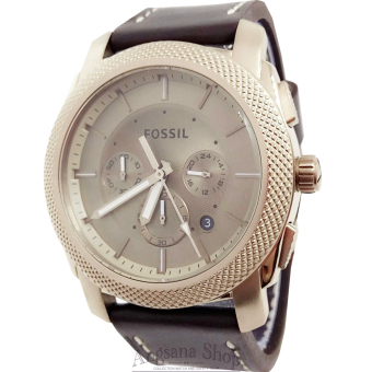 Fossil Fs5075 - Jam Tangan Fashion Pria Elegant - Chronograph - Classic Fiture Analog - Date - Leather (Brown Rose Gold)