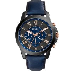Fossil Grant Chronograph Black and Blue Dial Men's Quartz Watch FS5061