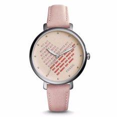 Fossil Jacqueline Three-Hand Blush Leather Watch, ES 4153
