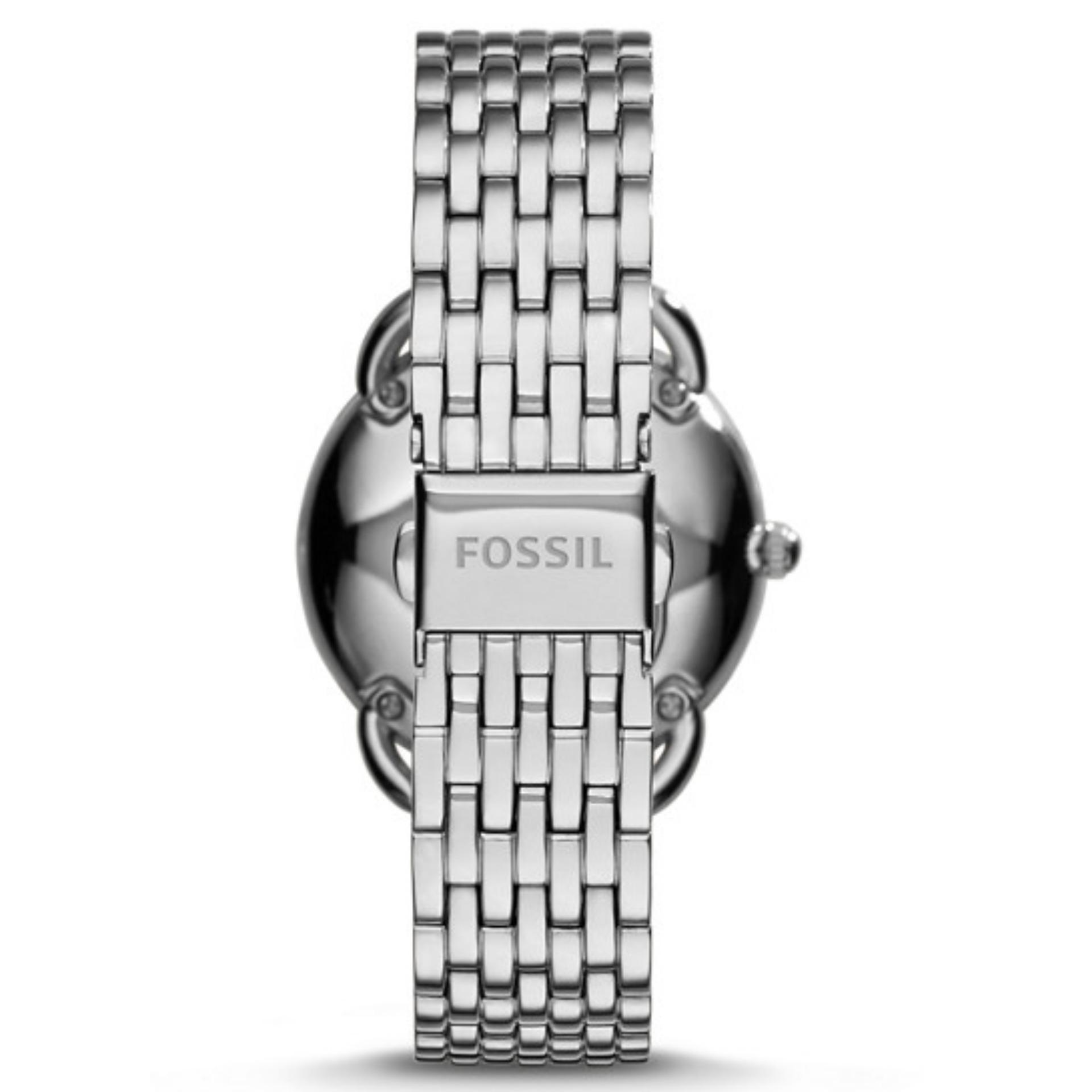 Hot Deals Fossil Jam Tangan Wanita Es3712 Tailor Original Es4099 Jacqueline Wine Leather Multifunctionstainless Steel Watch