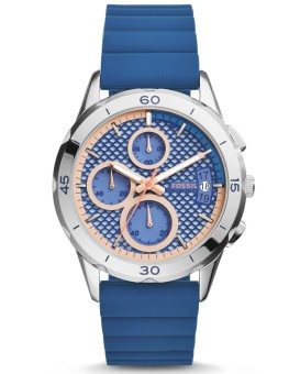 Fossil Modern Pursuit Chronograph Indigo Dyed Silicone Watch, ES 3982