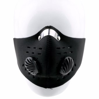 U Masker Motor Filter Anti Polusi - Black