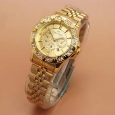 FR747 Analog Jam Tangan Wanita Stainless Steel Gold