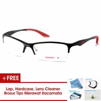 Frame Kacamata Pria Sporty Ducati Half Titanium Hitam Merah Bisa Dipasang  Lensa Minus Di Optik Terdekat 4f8d51222d