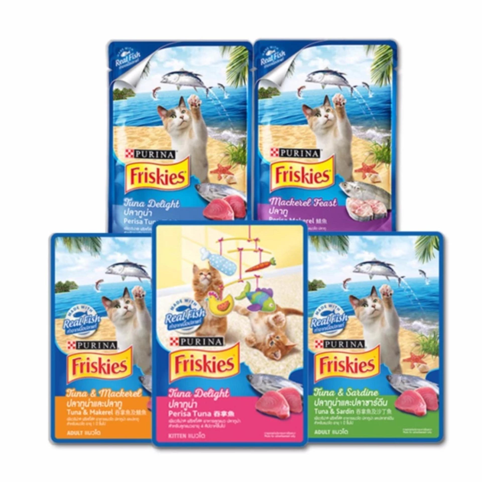 Friskies Wet Pouch X 5 Pcs Random Indonesia Isi 24 Pack Whiskas 85gr Makanan Kucing Rasa Grilled Saba Rumah