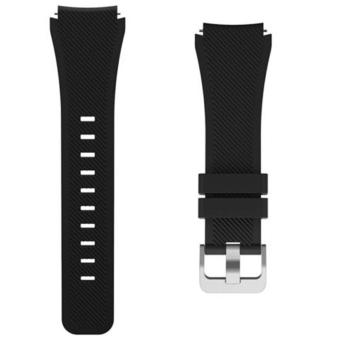 FS Quick Release Silicone Replacement Strap Wrist Watch Band with Stainless Metal Clasp for Samsung Gear