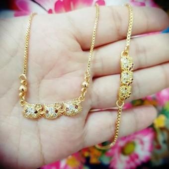 gelang kalung anak kepala3 xuping gold silver