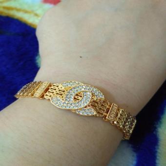 gelang plat branded gold xuping cantik plat
