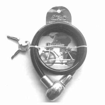 Gembok Kabel / Cable Lock / Kunci Gembok model Kabel - High Quality - Hitam