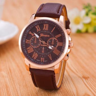 Geneva 263N Jam Tangan Wanita Analog Diamond Fashion Casual Lady Wrist Watch - Coklat