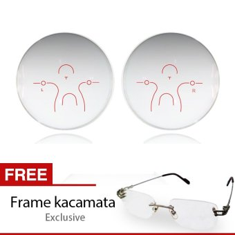 Go-optic Lensa Kacamata Progressive Platinum Photochromic + Free Frame Kacamata Exclusive