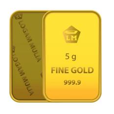 Gold Logam Mulia Antam 5 Gram - 24 Karat Sertifikat Resmi Antam - Emas Asli - Bergaransi - Istimewa - Cetakan Terbaru Tahun 2017