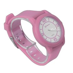 GOOD MINGRUI Creative Luxury Wrist Watch Rubber Strap QuartzWristWatch 8820 pink(Not Specified)(OVERSEAS) - intl