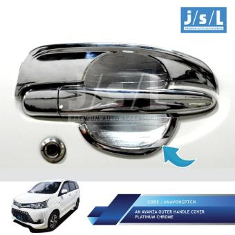 Grand All New Avanza Outer Handle Cover Platinum Chrome