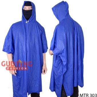 Gudang Fashion - Jas Hujan Ponco - Biru