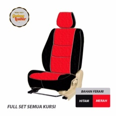 Gudang Leather Sarung Jok Mobil Avanza/Xenia 2009-2012 (Merah-Hitam) / Bahan Ferari
