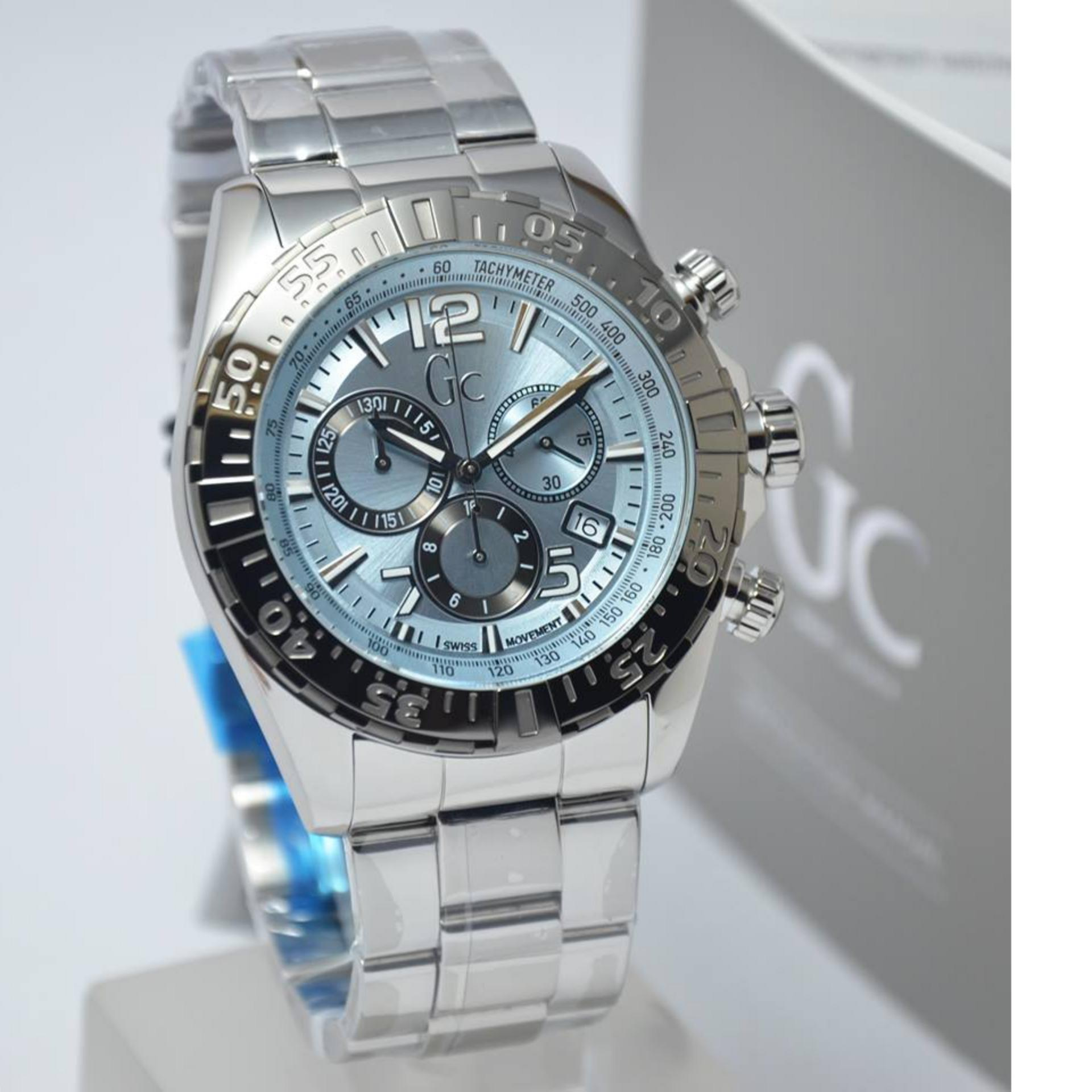 Guess Collection Gc Sportracer Y02005g7 Chronograph Jam Tangan Pria W0598g2 Velocity Stainless Stee