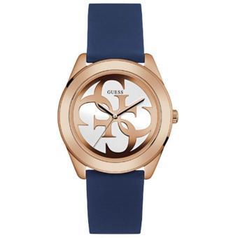 eShop Checker Guess Jam Tangan Wanita Guess W0911L6 G Twist Blue Silicone Watch Harga baru