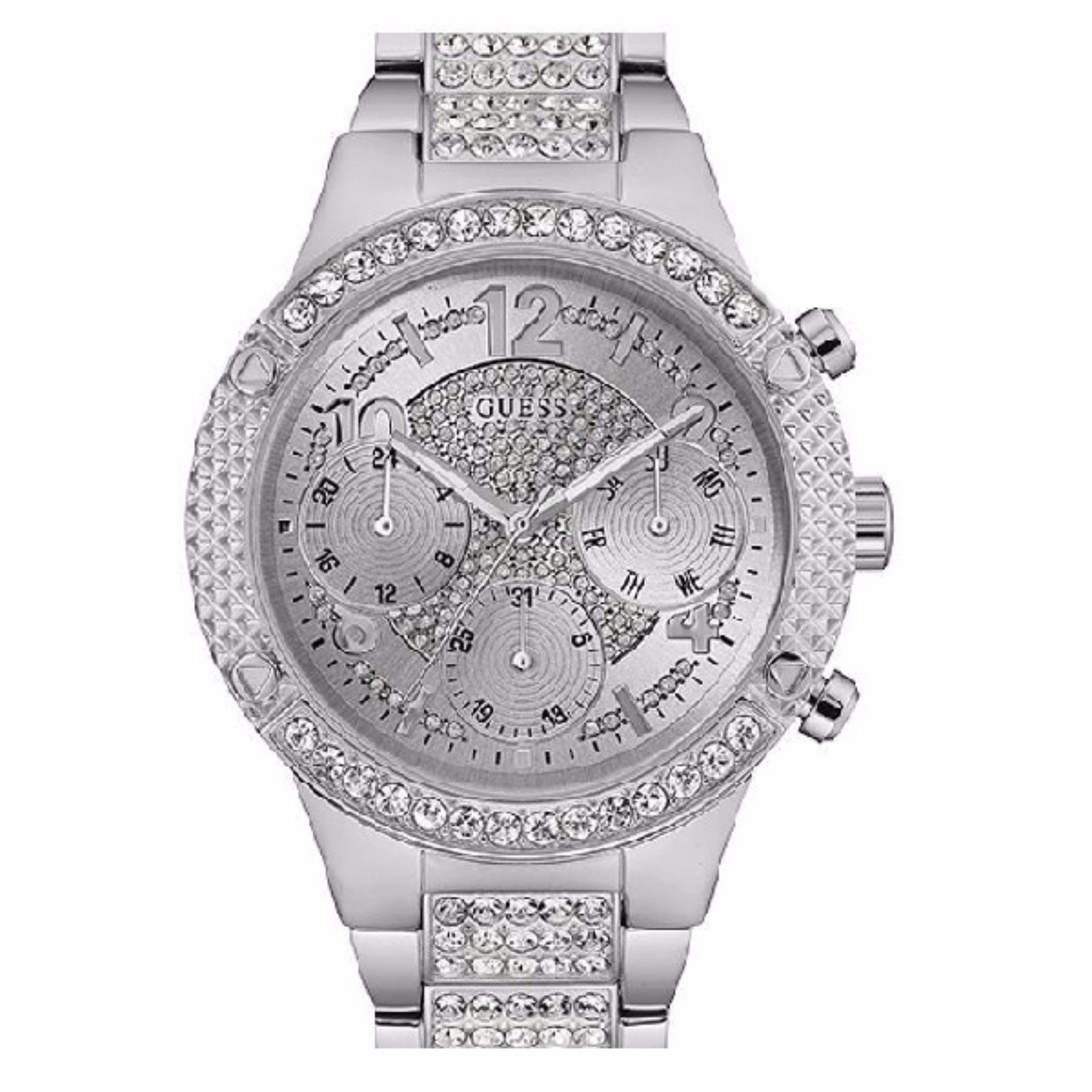 Guess Collection Gc Ladychic Y06002l1 Jam Tangan Wanita Stainless Rosegold Steel Y05009m7 Multifunction Strap Silver W0850l1