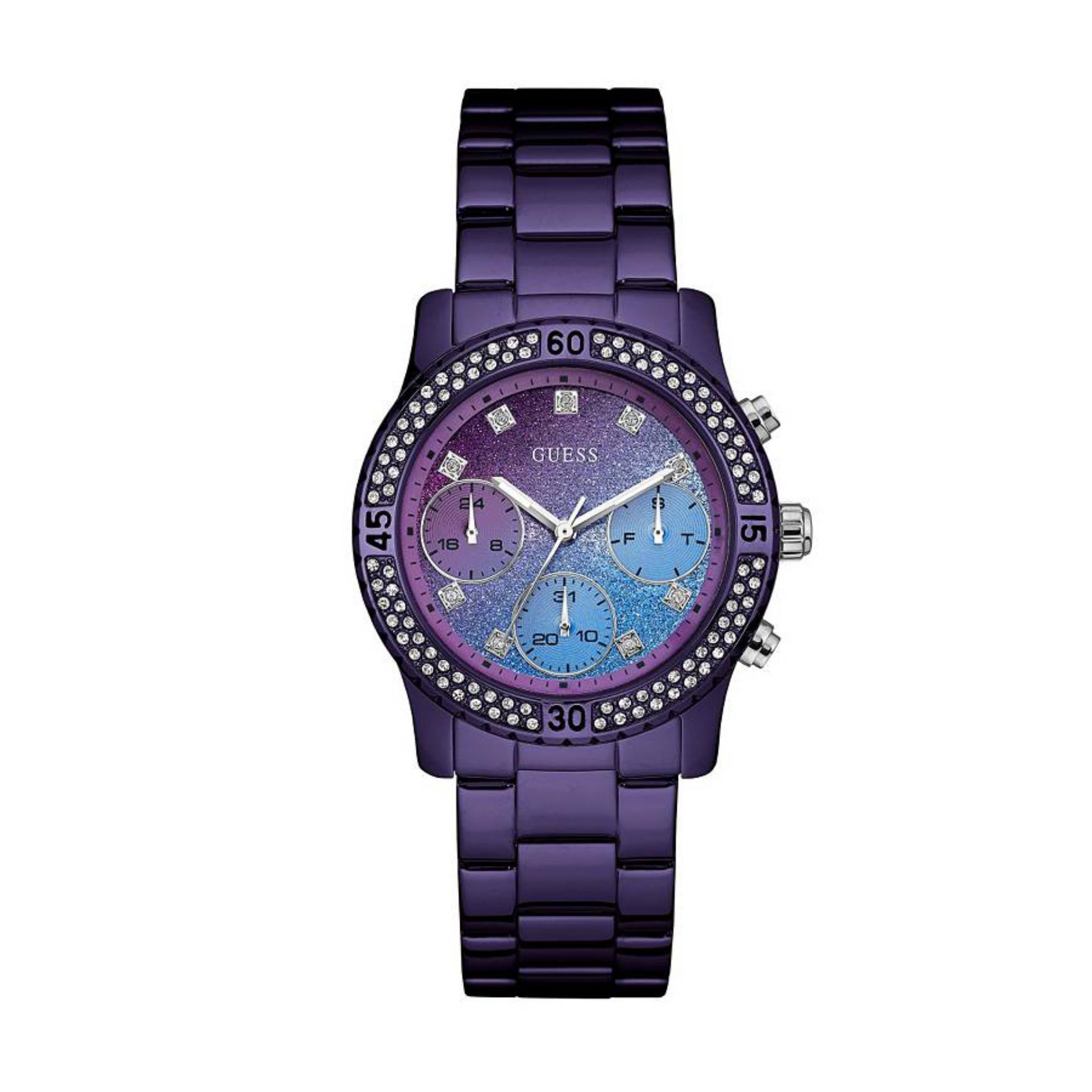 Guess Jam Tangan Pria Hitam Stainless Steel W0522g2 Daftar Alexandre Christie Ac668lw Silver Wanita Purple