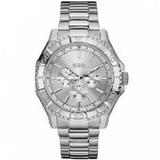 Guess W0479G3 UNPLUGGED - Jam Tangan Pria - Silver - Stainless Steel - Guess Watch
