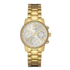Guess W0623L3 Chronograph - Jam Tangan Wanita - Gold - Stainless Steel