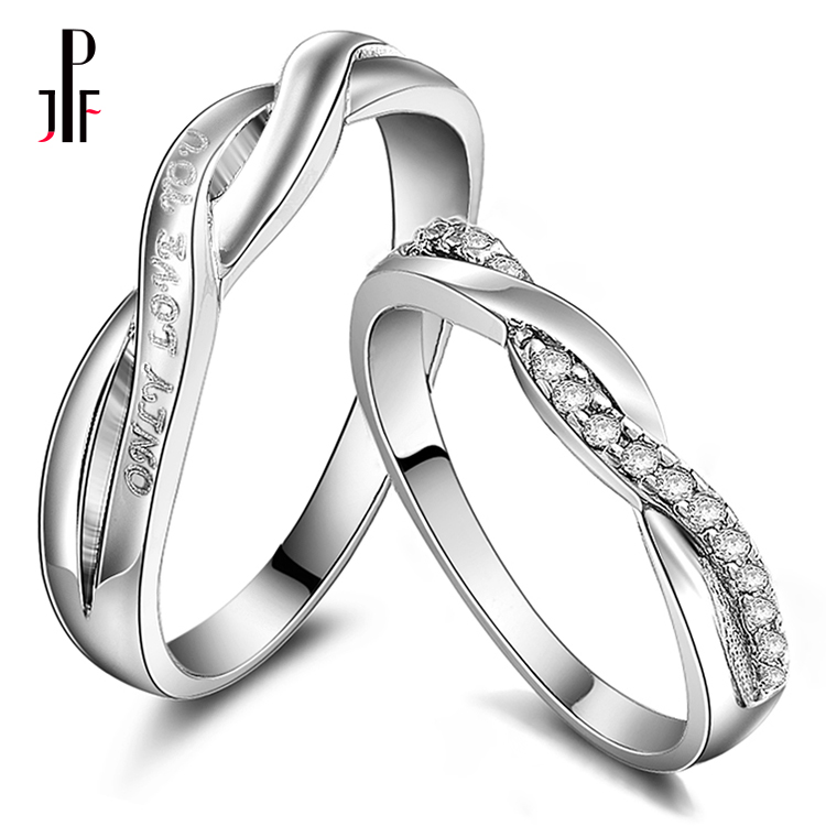 Flash Sale Hanya Cinta Anda terjalin cincin perak pada cincin Couple